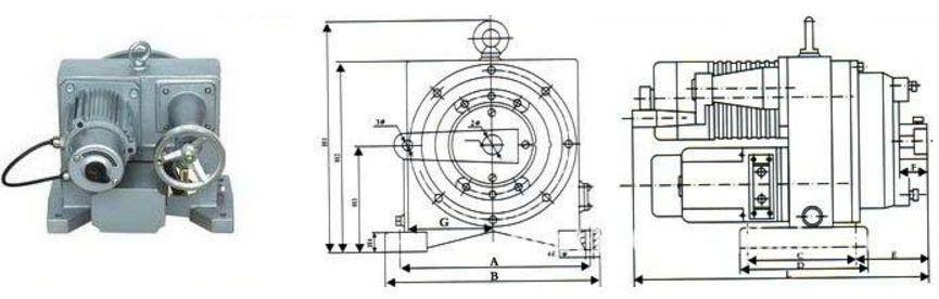 CHV角行程电动执行机构结构图片